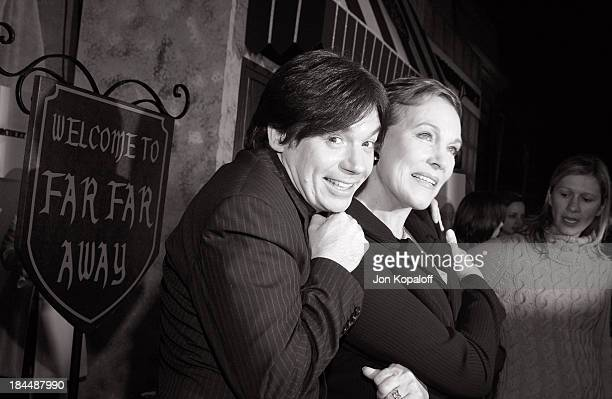 """Mike Myers and Julie Andrews during DreamWorks Celebrates The DVD Release of """"Shrek 2"""" at Spago in Beverly Hills, California, United States."""