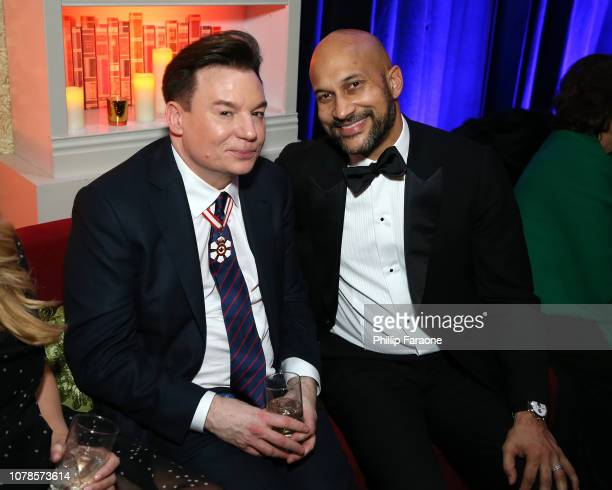 Mike Myers and KeeganMichael Key attend the FOX FX and Hulu 2019 Golden Globe Awards After Party at The Beverly Hilton Hotel on January 6 2019 in...