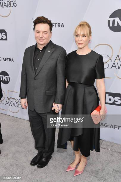 Mike Myers and Kelly Tisdale attend the 25th Annual Screen ActorsGuild Awards at The Shrine Auditorium on January 27 2019 in Los Angeles California