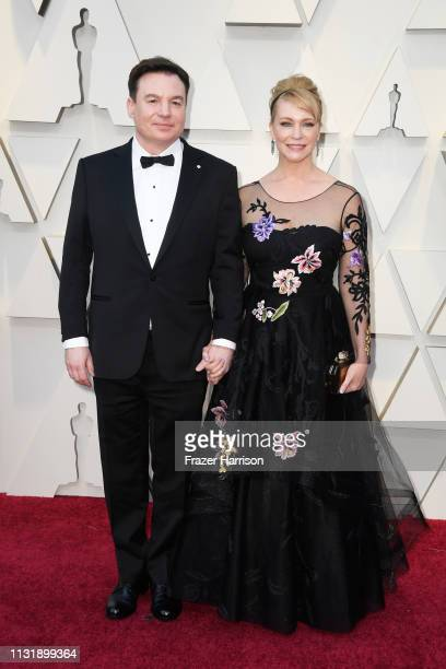 Mike Myers and Kelly Tisdale attend the 91st Annual Academy Awards at Hollywood and Highland on February 24 2019 in Hollywood California