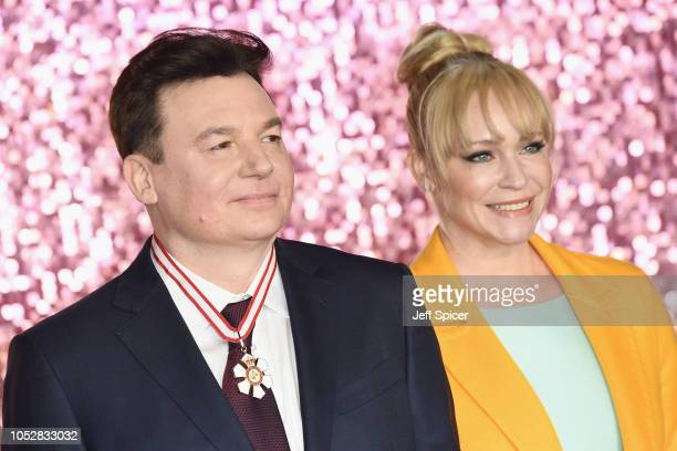 Mike Myers and Kelly Tisdale attend the World Premiere of 'Bohemian Rhapsody' at SSE Arena Wembley on October 23 2018 in London England