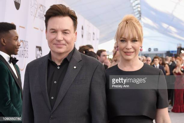 Mike Myers and Kelly Tisdale attends the 25th Annual Screen ActorsGuild Awards at The Shrine Auditorium on January 27 2019 in Los Angeles California