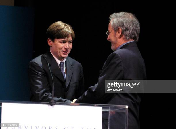 Mike Myers and Steven Spielberg during Shoah Foundation Exclusive Performance at Amblin Entertainment on Universal Studios in Universal City...