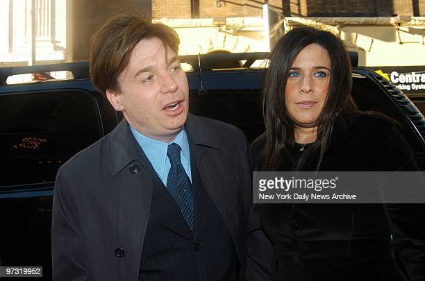 Mike Myers and wife Robin arrive at the Brooks Atkinson Theatre for the opening of the musical revue The Look of Love