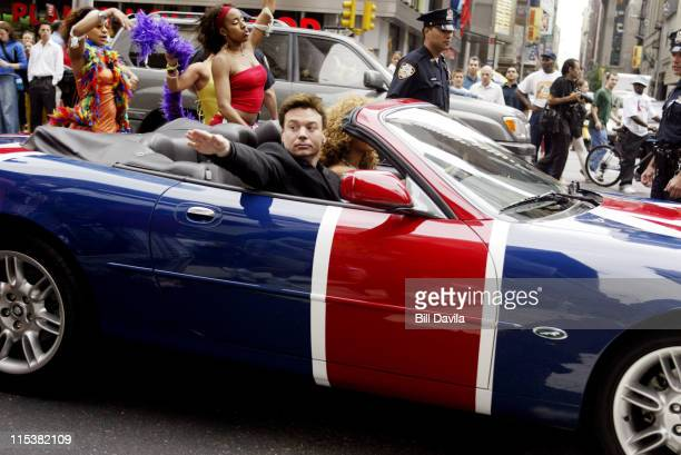 Mike Myers in Austin Powers' car during Mike Myers and Beyonce Knowles Promote Austin Powers in Goldmember on MTV's TRL at Times Square in New York...