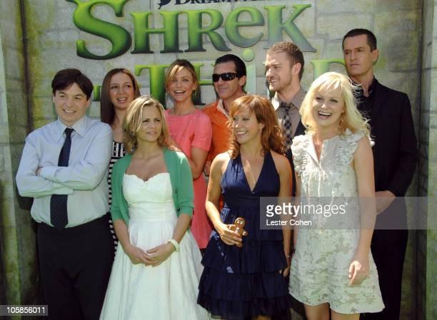Mike Myers Maya Rudolph Amy Sedaris Cameron Diaz Antonio Banderas Cheri Oteri Justin Timberlake Amy Poehler and Rupert Everett