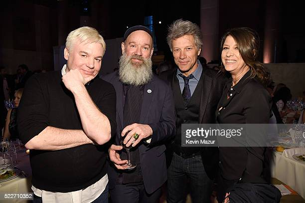 Mike Myers Michael Stipe Jon Bon Jovi and Dorothea Hurley attend Food Bank Of New York City's Can Do Awards 2016 hosted by Mario Batali on April 20...
