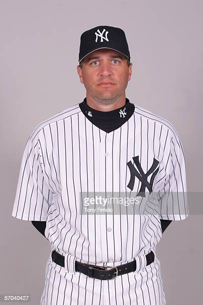 Mike Myers of the New York Yankees during photo day at Legends Field on February 24 2006 in Tampa Florida