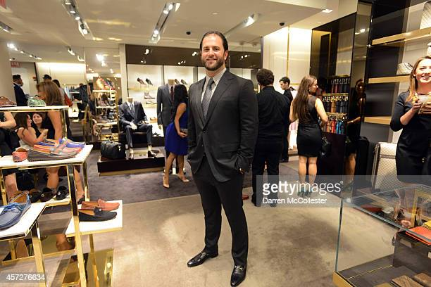 Mike Napoli attends a cocktail party benefiting Boston Children's Hospital at Gucci in the Prudential Center October 15 2014 in Boston Massachusetts