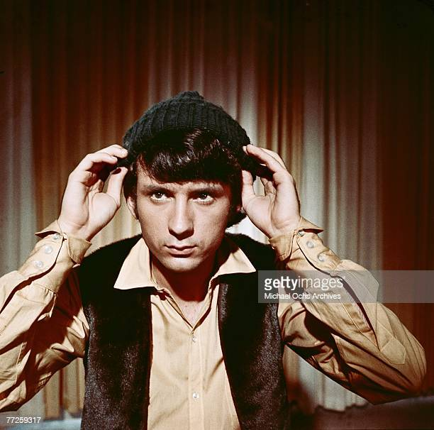 Mike Nesmith on the set of the television show The Monkees circa 1967 in Los Angeles California