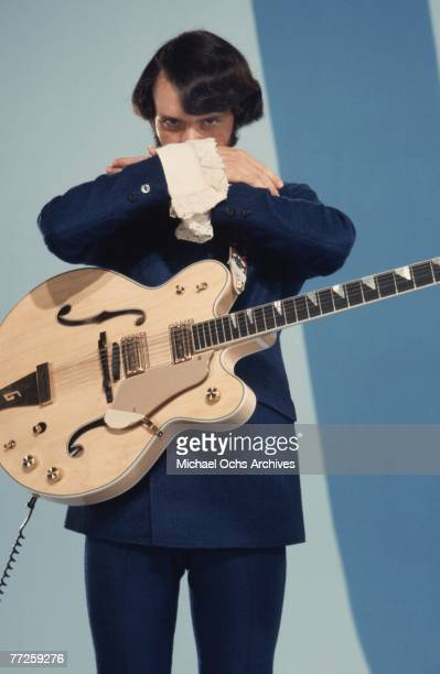 Mike Nesmith on the set of the television show The Monkees in August 1967 in Los Angeles California