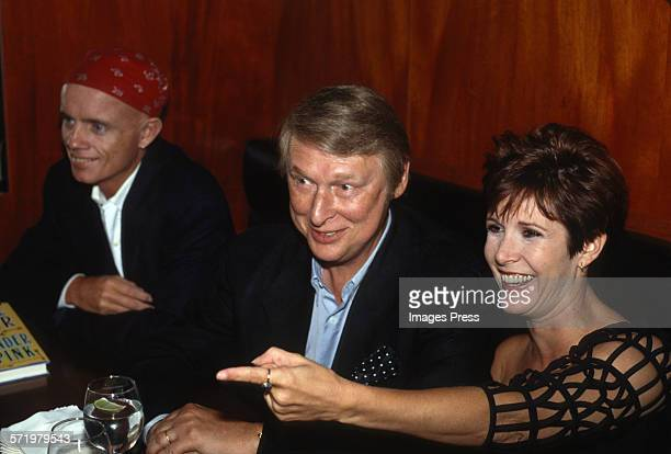 Mike Nichols and Carrie Fisher attend Book Party for Surrender The Pink by Carrie Fisher circa 1990 in New York City