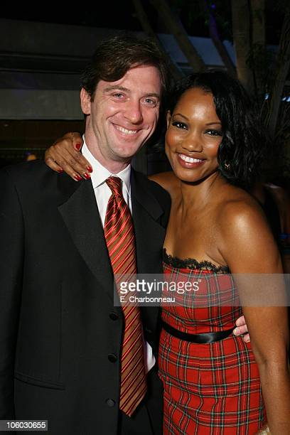 Mike Nilon and Garcelle Beauvais during Entertainment Tonight/PEOPLE Magazine Emmy Party at Mondrian Hotel in West Hollywood California United States
