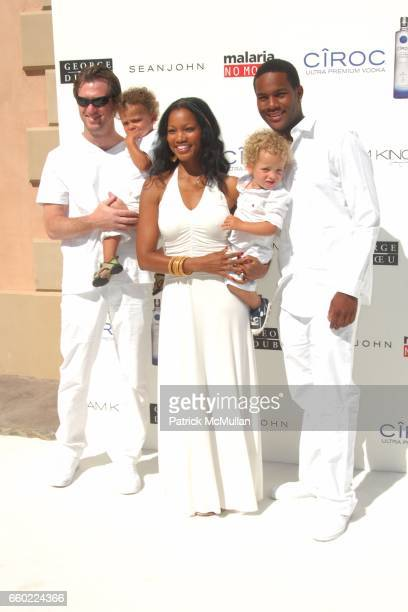 Mike Nilon Jax Nilon Garcelle Beauvais Jaid Nilon and Oliver Saunders attend SEAN DIDDY COMBS HOSTS THE ANNUAL WHITE PARTY IN LOS ANGELES at Private...