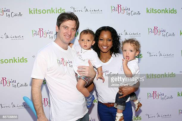 "Mike Nilon, Jax Nilon, Garcelle Beauvais-Nilon and Jaid Nilon attend the launch of Garcelle Beauvais-Nilon's new childrens jewelry line ""Petit Bijou""..."