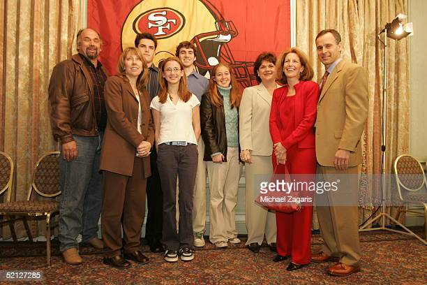 Mike Nolan with his wife Kathy and family as he is announced to be the Head Coach of the San Francisco 49ers at the Mark Hopkins Hotel in San...