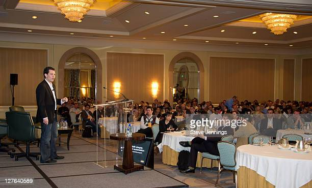 Mike Nolet speaks to the crowd at the AppNexus Summit SF at the Four Seasons Hotel on April 14 2011 in San Francisco California