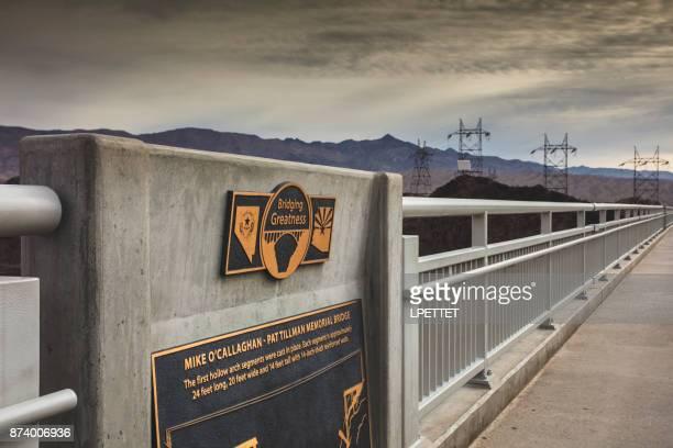 mike o'callaghan - pat tillman memorial bridge - boulder city stock photos and pictures