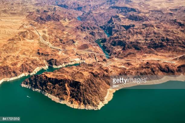 Mike O'Callaghan-Pat Tillman Memorial Bridge part of the Hoover Dam Bypass, Colorado River, Nevada, USA