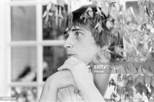 Mike Oldfield musician and composer pictured at home in Denham Bucks 25th August 1982
