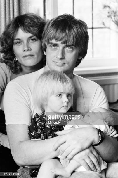 Mike Oldfield musician and composer pictured at home with family eldest daughter Molly baby son Dougal and partner Sally Cooper Buckinghamshire...