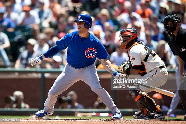 Mike Olt of the Chicago Cubs at bat against the San Francisco Giants during the fourth inning at ATT Park on May 28 2014 in San Francisco California...