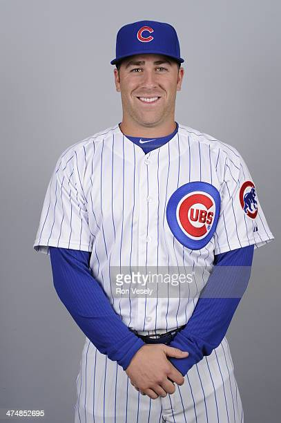 Mike Olt of the Chicago Cubs poses during Photo Day on Monday February 24 2014 at Cubs Park in Mesa Arizona