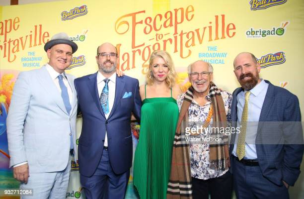 Mike O'Malley Christopher Ashley Kelly Devine Jimmy Buffett and Greg Garcia attend the Broadway Opening Night After Party for 'Escape To...
