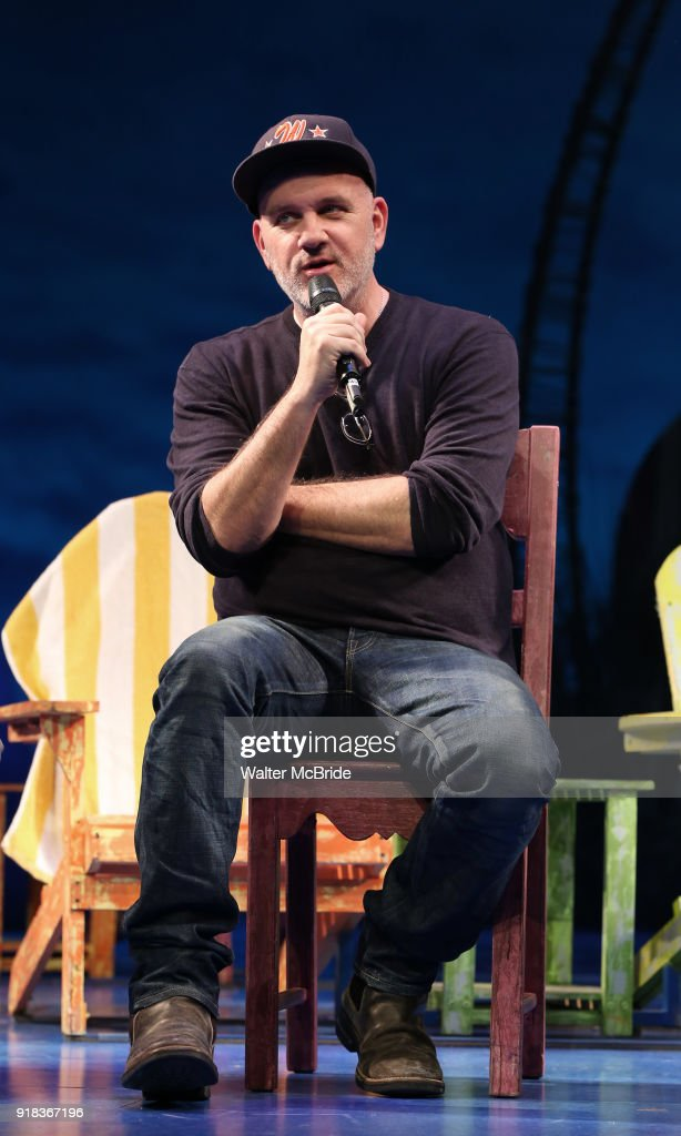 Mike O'Malley during the Press Sneak Peak for the Jimmy Buffett Broadway Musical 'Escape to Margaritaville' on February 14, 2018 at the Marquis Theatre in New York City.
