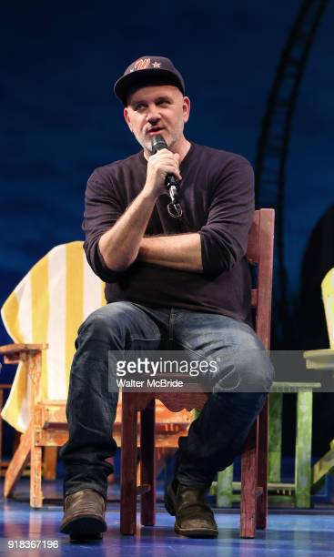 Mike O'Malley during the Press Sneak Peak for the Jimmy Buffett Broadway Musical 'Escape to Margaritaville' on February 14 2018 at the Marquis...