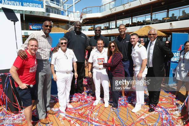 Mike Pack Alonzo Mourning Nunzio Mario Priolo Shaquille O'Neil Glen Rice Luigi De Angelis Christine Duffy Shane Battier Damir Mrsic and Arnold Donald...