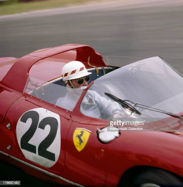 Mike Parkes drives the SpA Ferrari SEFAC Ferrari 250P during the World Sportscar Championship 24 Hours of Le Mans race on 16th June 1963 at the...