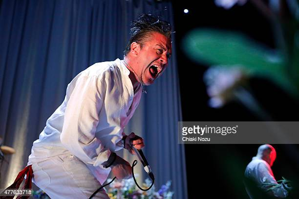 Mike Patton and Jon Hudson of Faith No More perform at The Roundhouse on June 18 2015 in London England