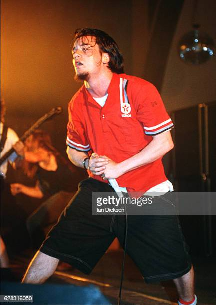 Mike Patton of Faith No More performing on stage in Davenport Iowa USA 21/22 September 1992