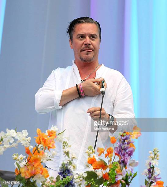 Mike Patton of Faith No More performs at Day 1 of Pinkpop Festival at Megaland on June 12, 2015 in Landgraaf, Netherlands.