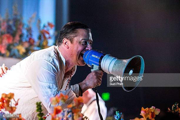 Mike Patton of Faith No More performs at Paramount Theatre on April 16 2015 in Seattle United States