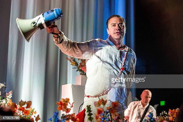 Mike Patton of Faith No More performs at Paramount Theatre on April 16, 2015 in Seattle, United States.