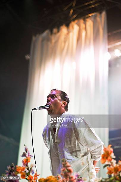 Mike Patton of Faith No More performs on day 2 of the Bumbershoot Festival at Seattle Center on September 6 2015 in Seattle Washington