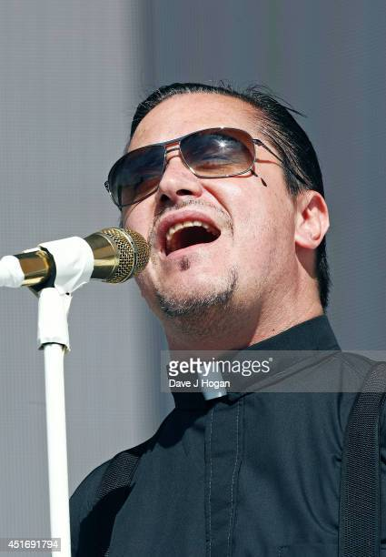Mike Patton of Faith No More performs on stage at British Summer Time Festival at Hyde Park on July 4 2014 in London United Kingdom