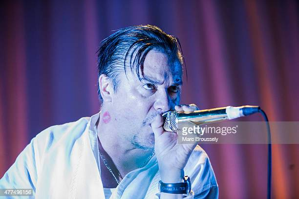 Mike Patton of Faith No More performs on stage at The Roundhouse on June 17 2015 in London United Kingdom