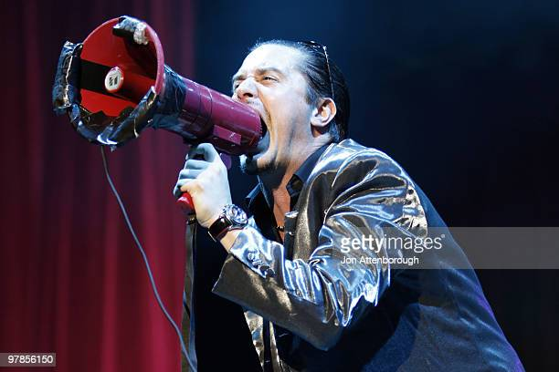 Mike Patton of Faith No More performs on stage at the Sydney leg of the Soundwave Festival at Eastern Creek Raceway on February 21, 2010 in Sydney,...