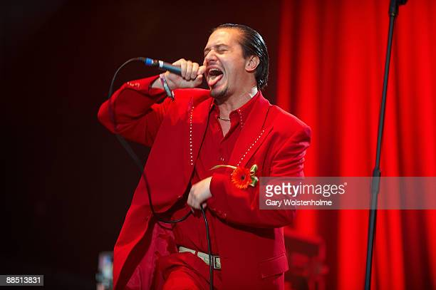 Mike Patton of Faith No More performs on stage on day 1 of Download Festival at Donington Park on June 12 2009 in Donington England