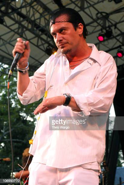 Mike Patton of Peeping Tom during Peeping Tom Performs at Central Park Summer Stage at Central Park Summer Stage in New York City, New York, United...
