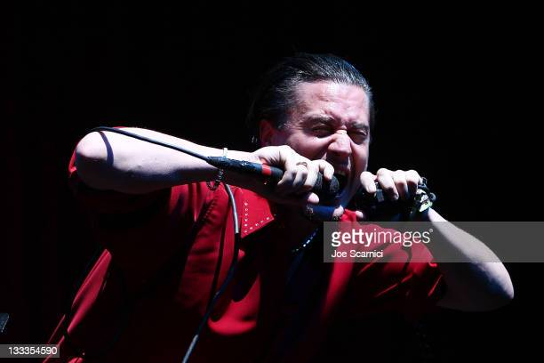 Mike Patton of the band Faith No More performs on Day 2 of the 2010 Coachella Valley Music & Arts Festival at The Empire Polo Club on April 17, 2010...