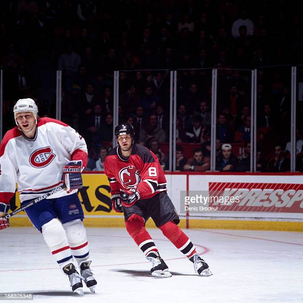 c1c28716e Mike Peluso of the New Jersey Devils skates in a game against the Montreal  Canadiens at