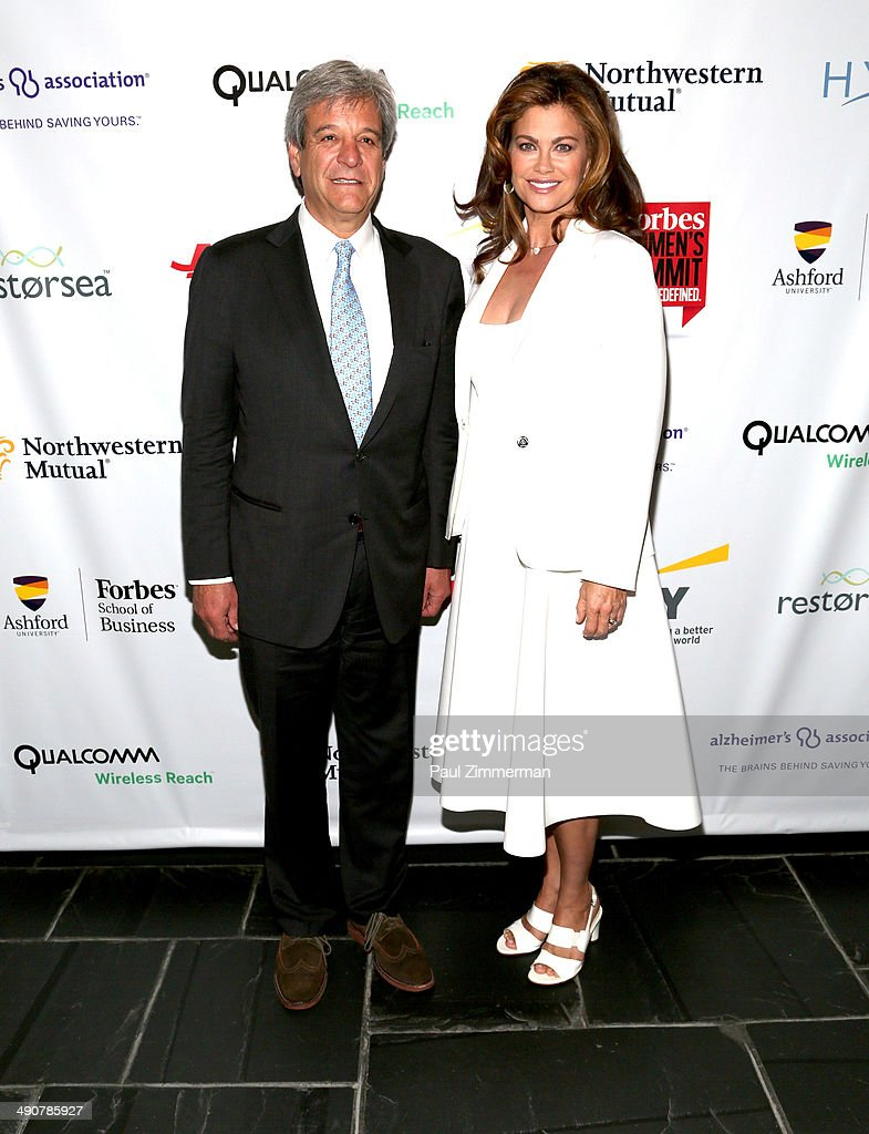 Mike Perlis, CEO Forbes Media and Kathy Ireland attend Forbes Women's Summit:The Entrepreneurship of Everything at 583 Park Avenue on May 15, 2014 in New York City.