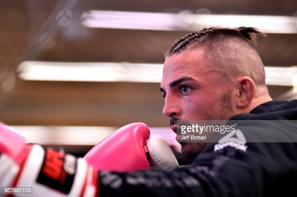 Mike Perry holds an open workout for fans and media at UFC GYM Orlando on February 21 2018 in Orlando Florida