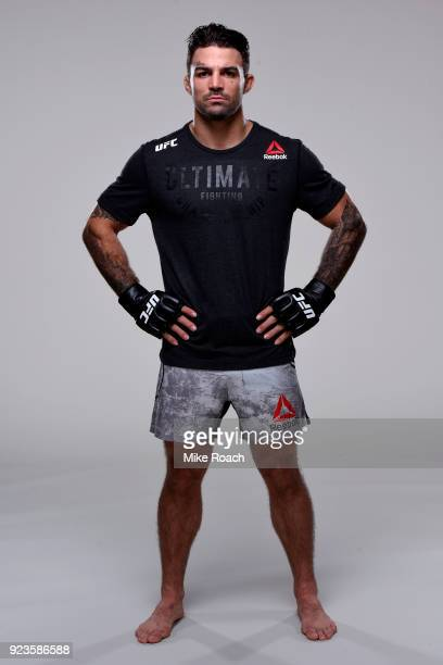 Mike Perry poses for a portrait during a UFC photo session on February 20 2018 in Orlando Florida