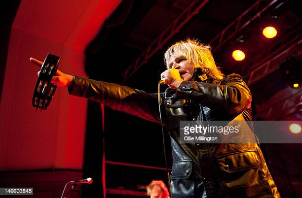 Mike Peters of Big Country performs on stage at O2 Academy Leicester on June 20, 2012 in Leicester, United Kingdom.