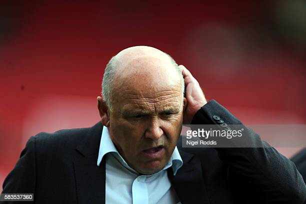 Mike Phelan caretaker manager of Hull City during the PreSeason Friendly match between Barnsley and Hull City at Oakwell Stadium on July 26 2016 in...